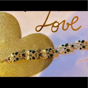 Vintage costume jewelry bling bracelet